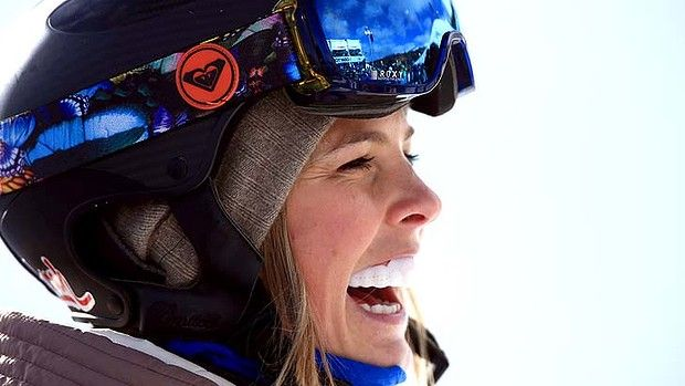 Snowboarding Olympic Athlete Torah Bright wearing SISU Guard