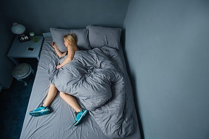 sleeping athlete