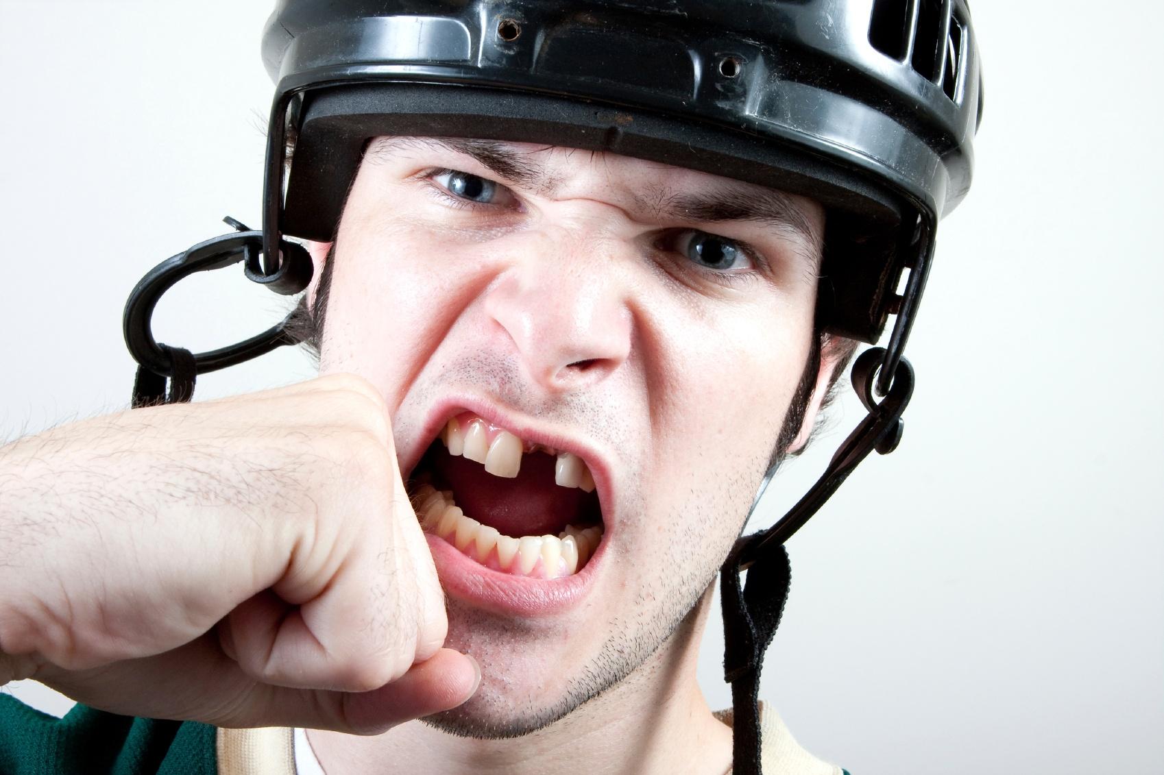 hockey mouth guard teeth