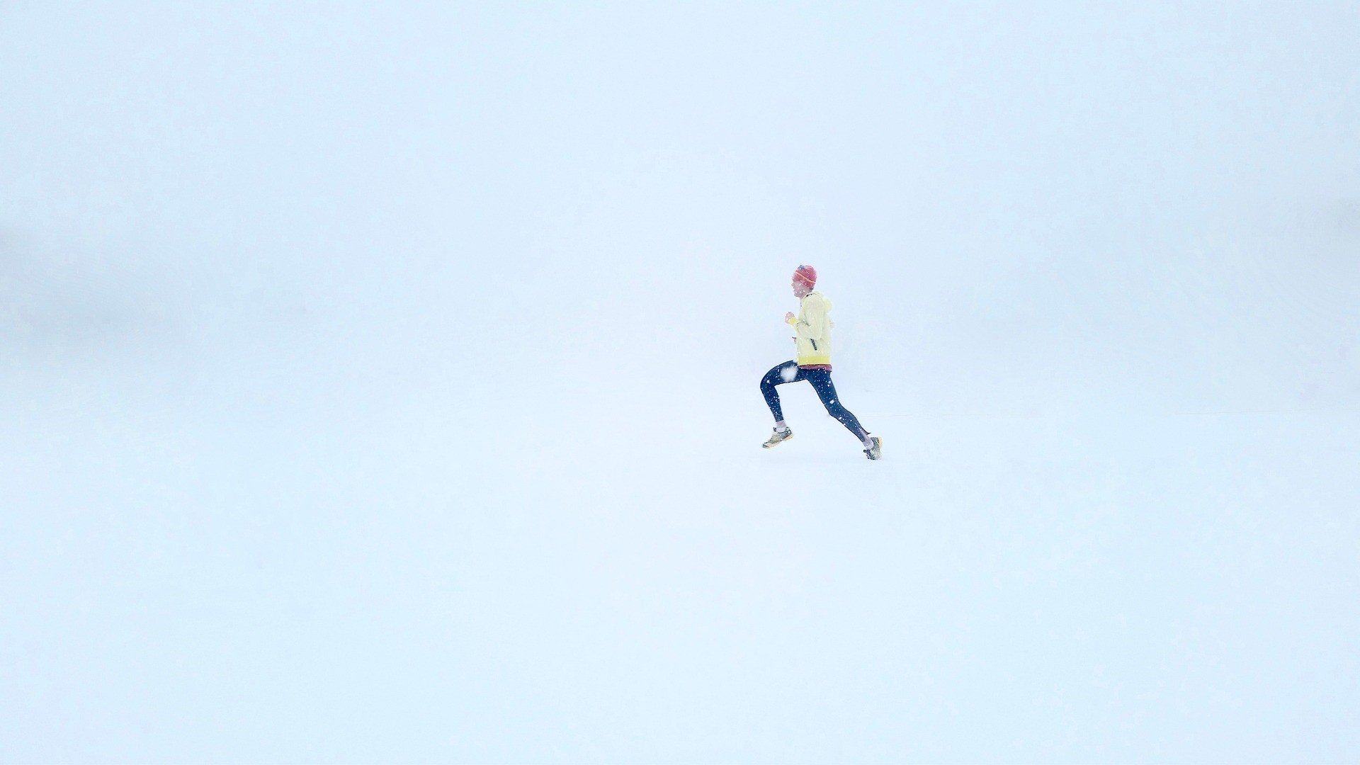 running man snow-1